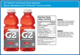 g2 perform fruit punch electrolyte beverage