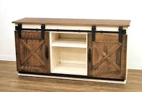tv stand doors coastal sliding barn door stand oak tv cabinet sliding doors