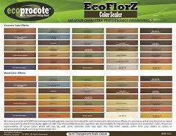 Concrete Sealer Color Chart Timbersoy Color Ecoflorz Color Sealer Color Chart 35802
