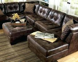 brown leather l shaped couch sofa u set light