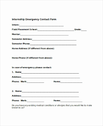 In Case Of Emergency Form For Employees Employee Emergency Contact Form Template Fresh Employee Information