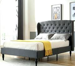 Bed Frames With Headboard Upholstered Platform And Metal Frame Wood ...