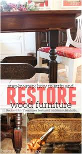 restoring furniture ideas.  furniture how to strip and restore wood furniture  beckwithu0027s treasures featured on  remodelaholic refinish throughout restoring ideas