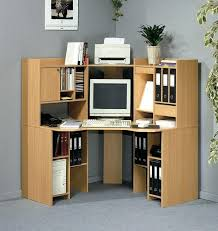 small corner pc desk furniture amazing maple wood corner computer desk design with file cabinet rack