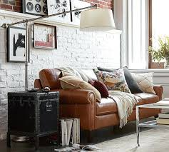 stupendous pottery barn leather sofa for house design – Gradfly
