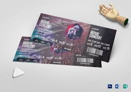 Ticket Design Music Concert Ticket Template