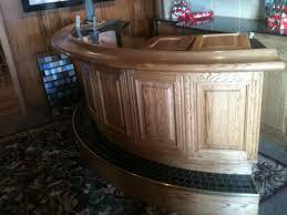custom home bar furniture. 1/4 Round Bar - A Unique Design To Fit Into Room Corners. Custom Home Furniture