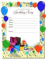 Design Of Invitation Card For Birthday Party Bahiacruiser