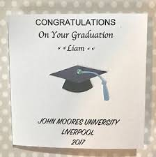 Congratulations On Your Graduation Handmade Card Personalised