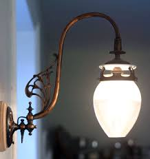 history of gas lighting in homes. gas-wall-bracket history of gas lighting in homes country life