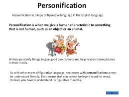 figurative language personification personification