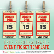 Free Vintage Ticket Template Gallery 89 Images