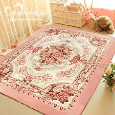 WINLIFE Romantic Pink Rose Rug For Living Room,Elegant American Country  Style Carpet Bedroom,Branded Rug And Mat-in Carpet from Home & Garden on ...