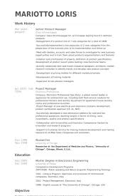 Ideas Collection Sample Resume Product Manager In Format Sample