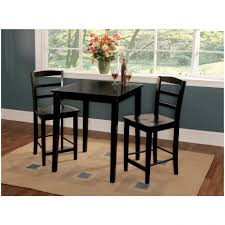 Kitchen Pub Table And Chairs Interior Kitchen Table And Chairs With Matching Bar Stools Black
