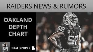 Raiders Depth Chart 2018 Oakland Raiders Rumors Khalil Mack Franchise Tag Mack Season Holdout 2018 Preseason Depth Chart