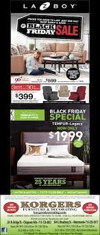 Black Friday Sale Korgers Furniture And Decorating Menomonie WI