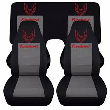 pontiac firebird trans am car seat covers front and rear cotton material