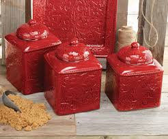 Designer Kitchen Canister Sets Red Decor For Kitchen Minipicicom
