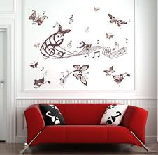 removable butterfly wall stickers bedroom music art wall decor stickers on removable wall decor stickers with removable butterfly wall stickers bedroom music art wall decor