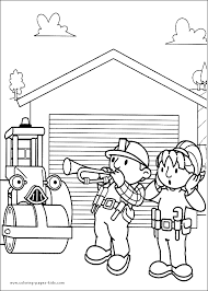 Small Picture Bob the Builder color page Coloring pages for kids Cartoon
