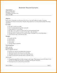 Data Scientist Resume Objective Bartender Resume Resumes Data