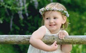 Cute Baby Girl In White Dress Photo Hd ...