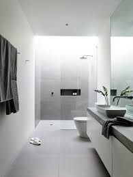 white bathroom floor:  inspirational examples of gray and white bathrooms gtgt this bathroom inside the robinson concept