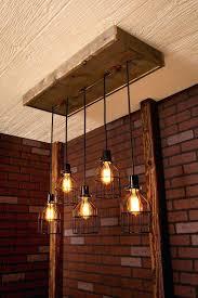 barn wood chandelier reclaimed beams best lamps restaurant bar chandeliers pottery bead good beam and industrial