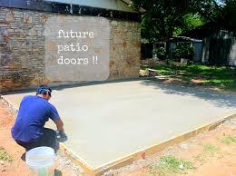 Build A Concrete Patio How To Build A Wood Patio Maisondesfleursme