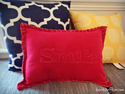 I sewed together the pillow, inserted the pillow form and added the  decorative stitching.