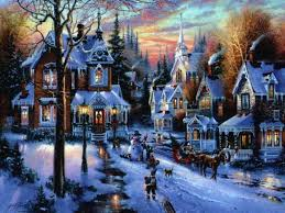 christmas town wallpaper. Perfect Christmas Christmas Village With Town Wallpaper S