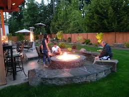 patio designs with fire pit and hot tub. Patio Ideas With Firepit And Hot Tub Back Yard 5 Outstanding Backyard Fire Pit Landscaping Landscape Pictures Concrete Designs S