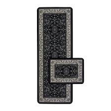 chromojet traditional black rug
