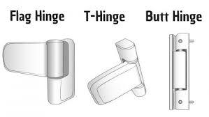 three common types of upvc hinges