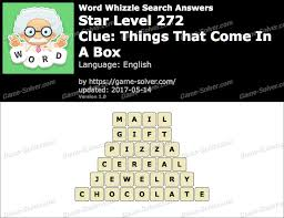 word whizzle search star level 272 answers