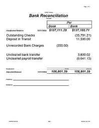 bank reconciliation form photographs bank reconciliation