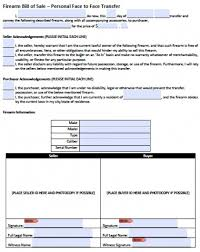 Free Bill Of Sale Simple Download FirearmGun Bill Of Sale Form PDF Word WikiDownload