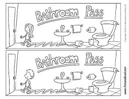 Bathroom Pass Template School Templates For Teachers