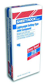 exterior joint compound. sheetrock® easy sand™ lightweight setting-type joint compound 210 exterior