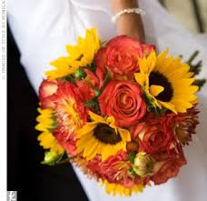 Red Roses And Sunflower Wedding Bouquets Flowers Healthy