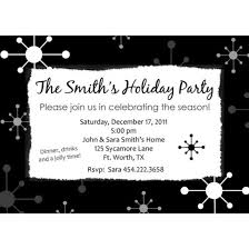 White Christmas Invitations Black And White Christmas Invitation Template Penaime Com