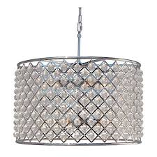 cassiel crystal drum chandelier chrome