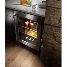 kitchenaid 24 undercounter refrigerator with glass door