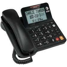at t corded speaker phone with caller