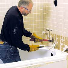 step 4 remove tub spout and tiles