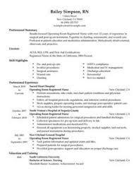 Experienced Nursing Resume Nursing