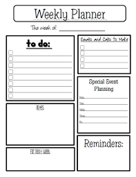 Free Weekly Calendar Template For Teachers Lesson Planner