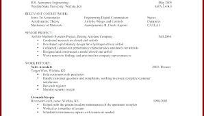 Resume Examples For Students With No Work Experience Resume With No