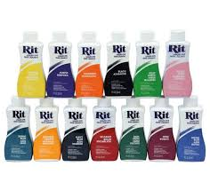 Rit Color Chart Rit Liquid Dye 34 Colours To Choose From